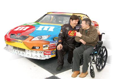 Bill Mize and NASCAR driver Jim Inglebright