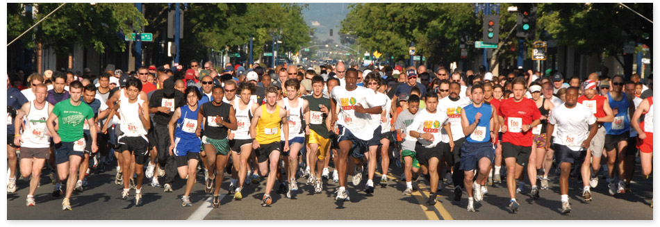 Runners compete in the Run for Good Race