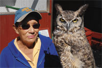 Wildlife Manager Margie Furco and friend.