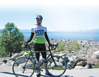 Dr. Seth Kaufman with bike