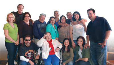 Toni Maria with family