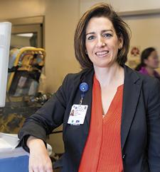 Heather Venezio, R.N., Trauma Program director.